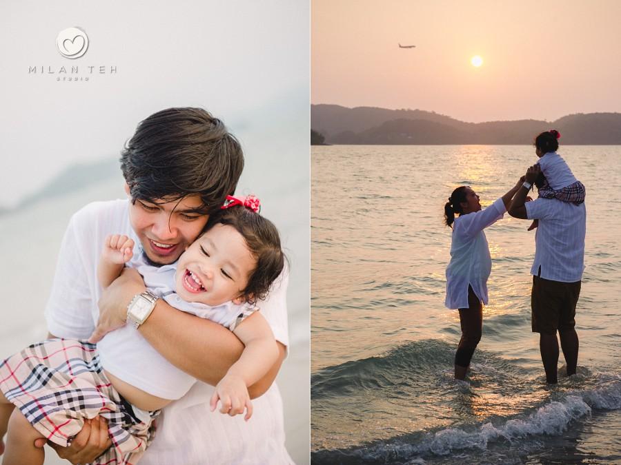 happy family time at pantai cenang langkawi