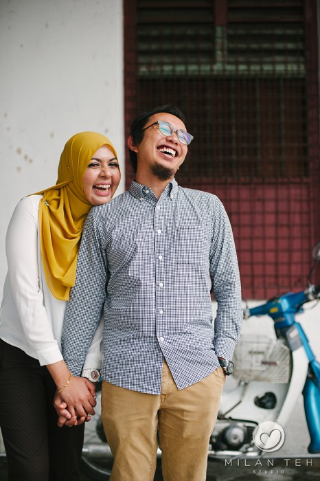smiling malay couple photo