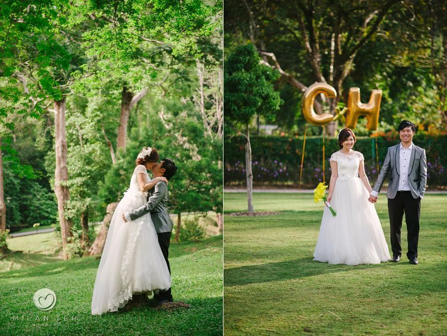 prewedding penang photography at botanic garden