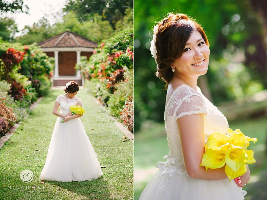 bridal portrait at penang botanic garden
