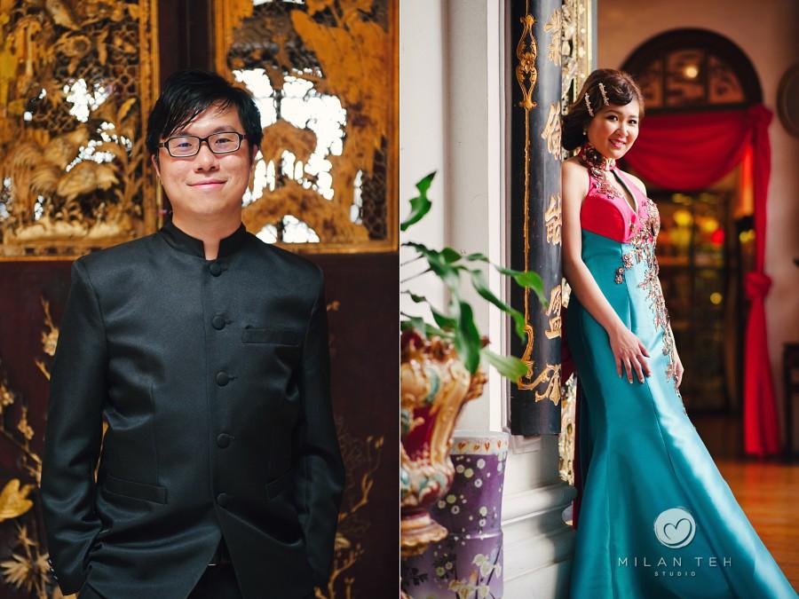 wedding portrait at pinang peranakan mansion