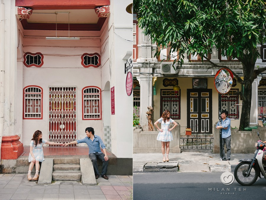 couple portrait at georgetown heritage area penang