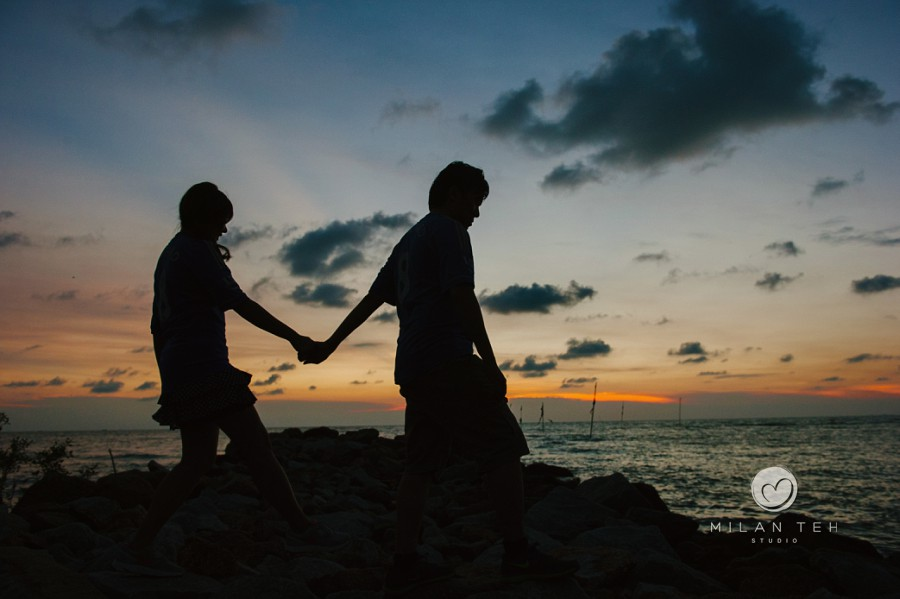 dusk couple photo in penang