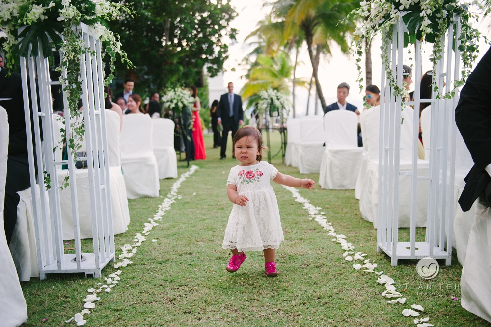 little girl at e&o hotel penang garden wedding