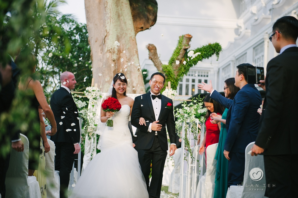 announcing bride and groom at penang e&o hotel
