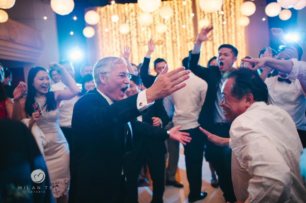 dancing at wedding reception e&o hotel penang
