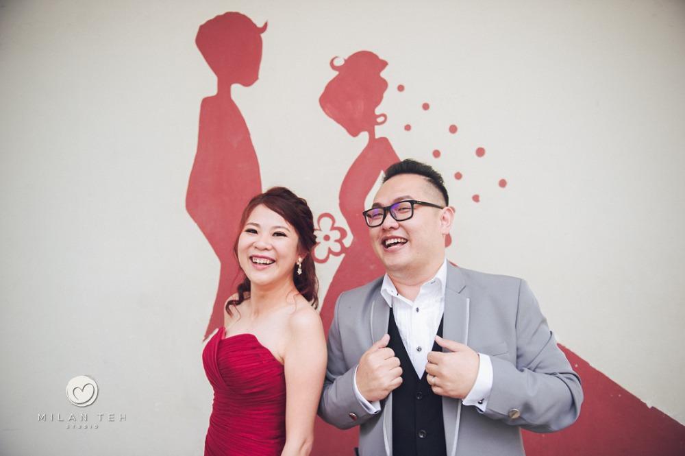prewedding with street art penang