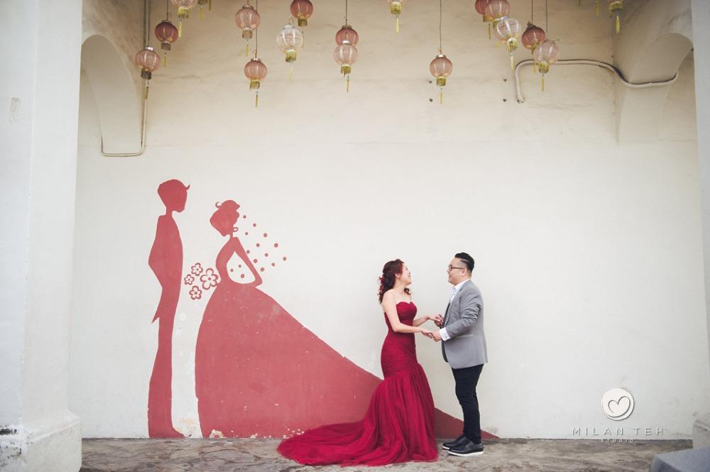 penang prewedding with street art