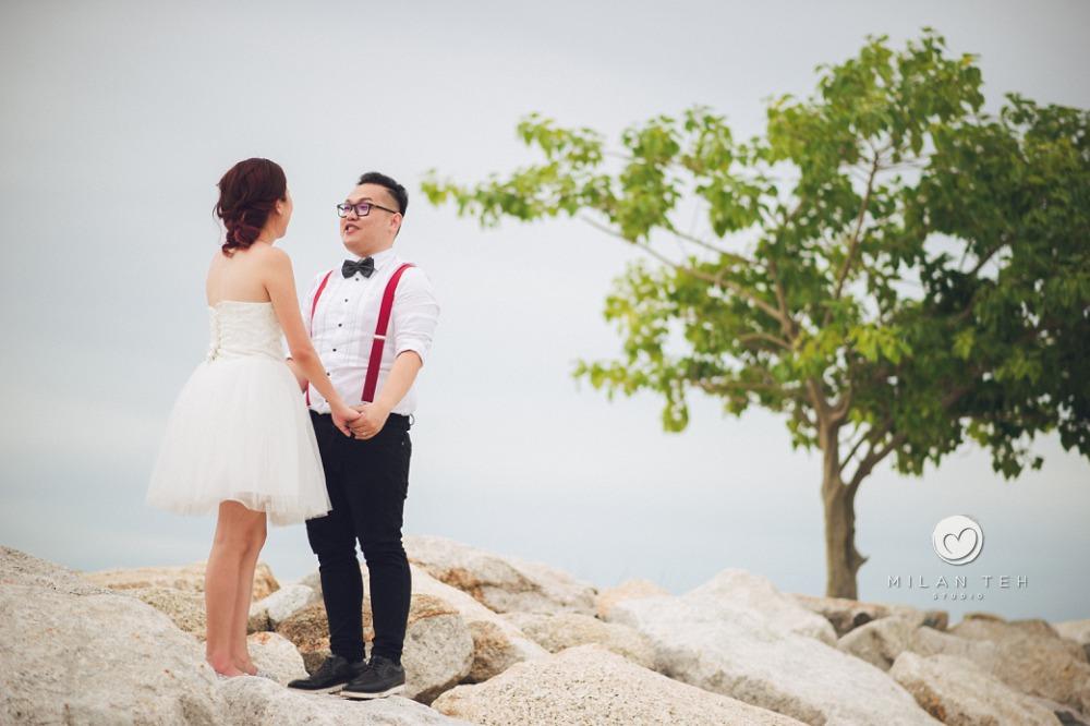 penang beach casual couple photo