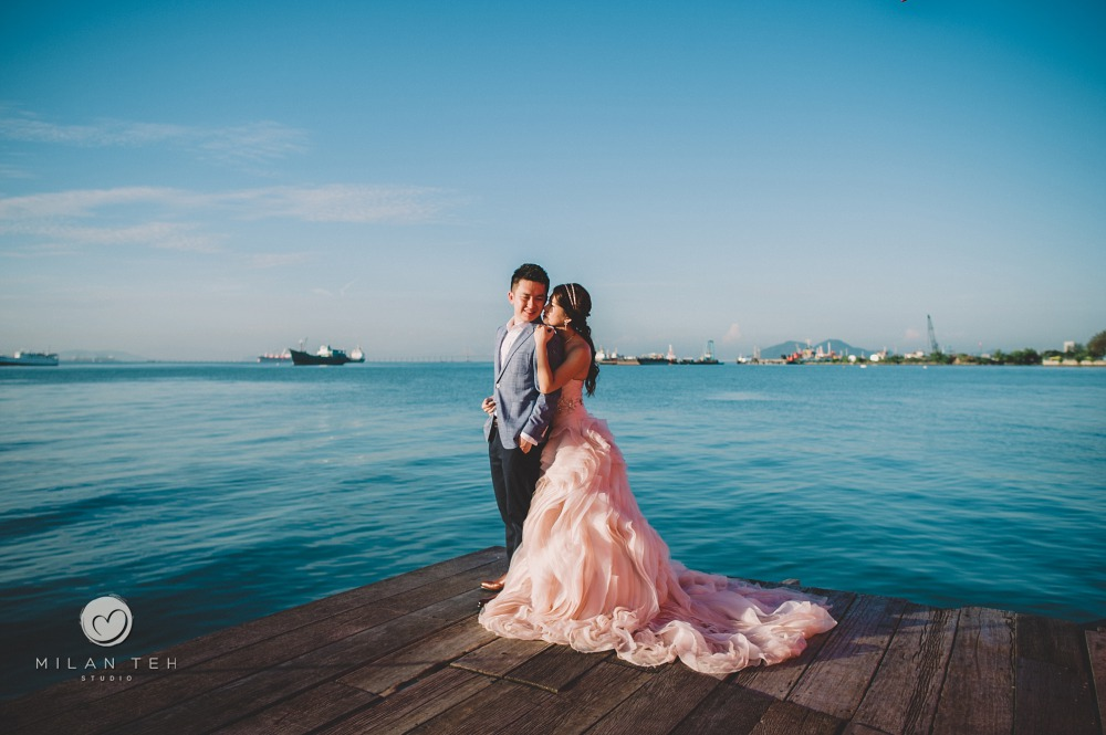 blue sea prewedding in penang