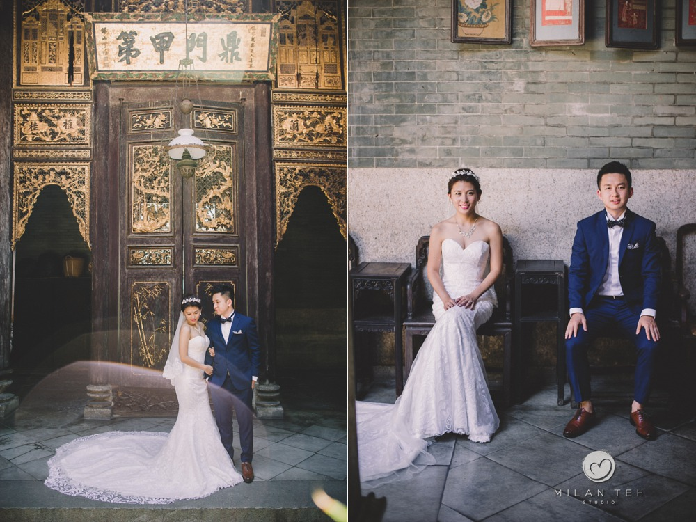 modern prewedding at peranakan mansion penang