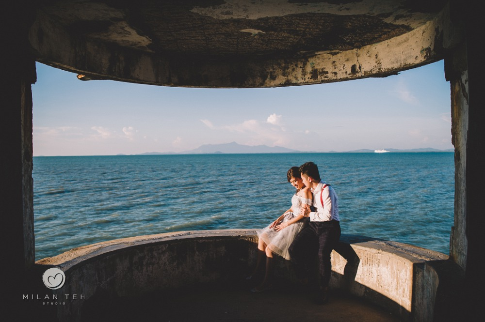 beautiful casual prewedding at penang beach