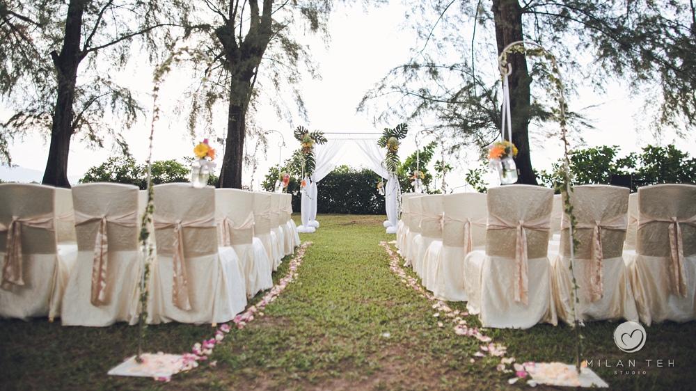 penang garden wedding in lone pine hotel