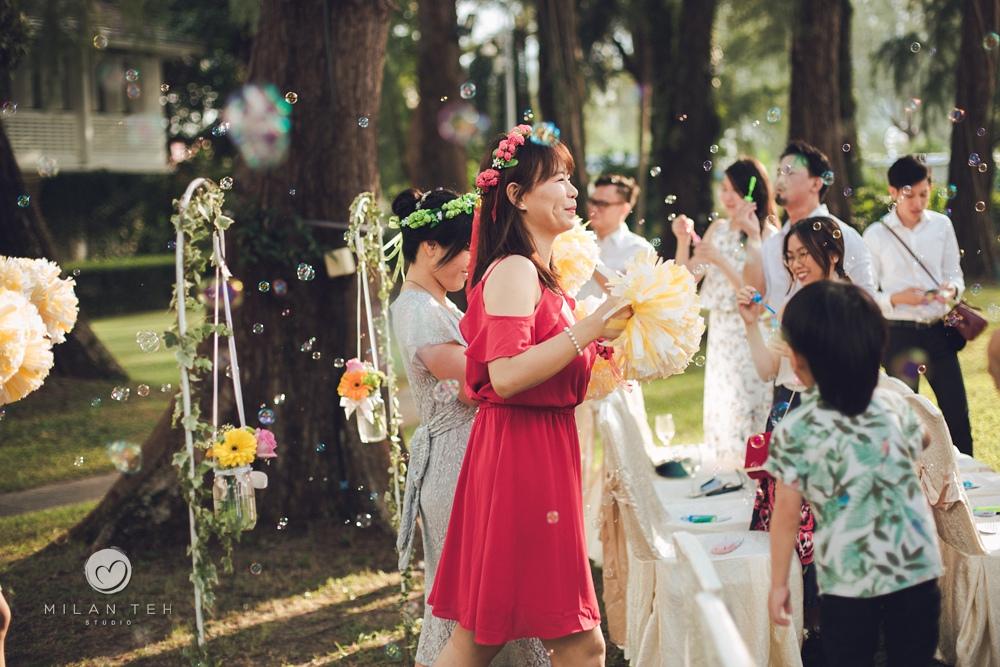 colorful outdoor garden wedding in penang