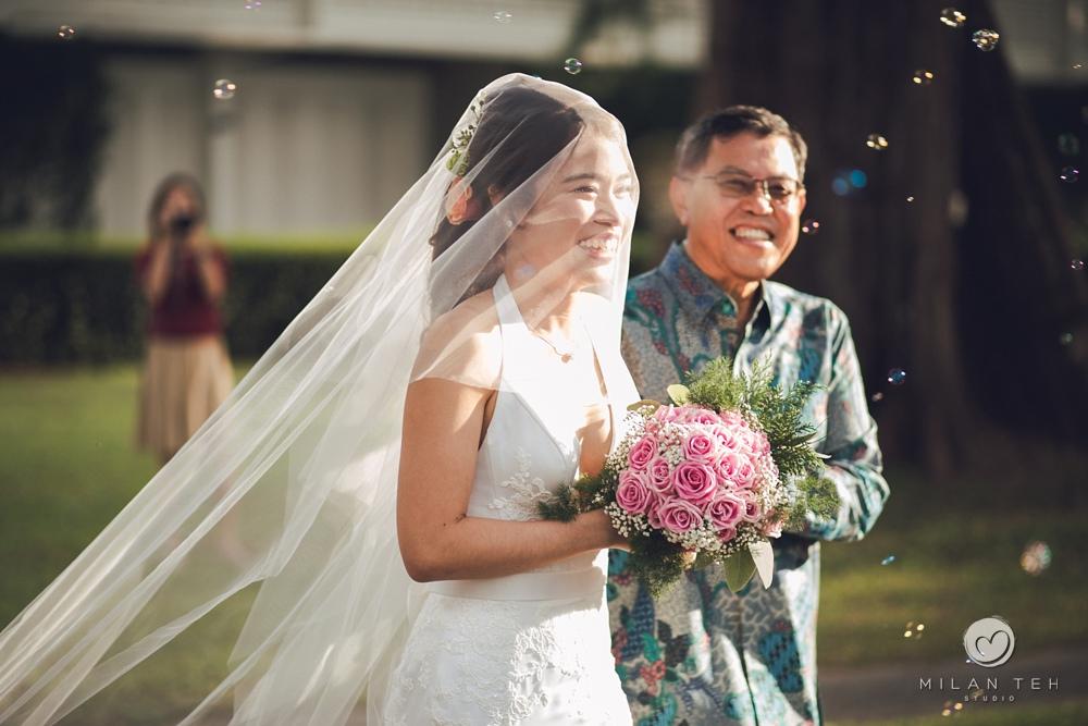 outdoor garden wedding in penang