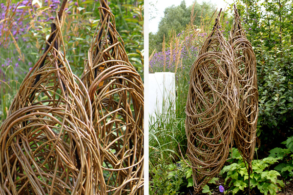 Willow garden sculpture