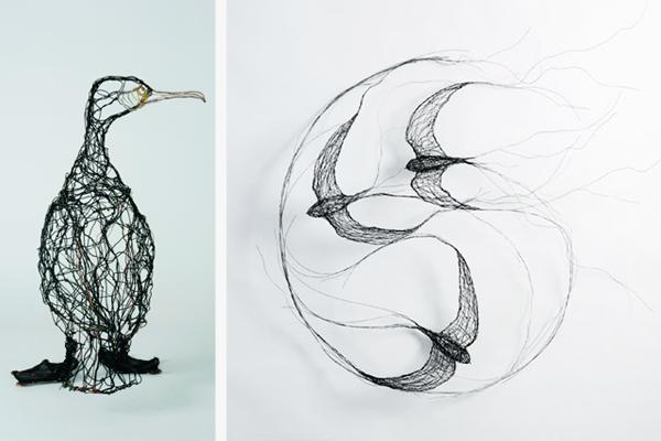 Celia Smith wire bird sculptures
