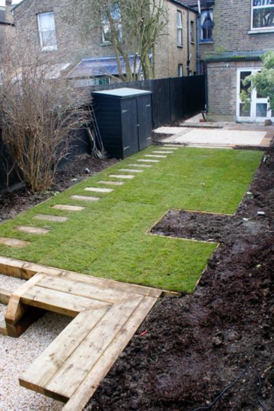 Small Town Garden Build Week 4 — Contemporary Garden Design London