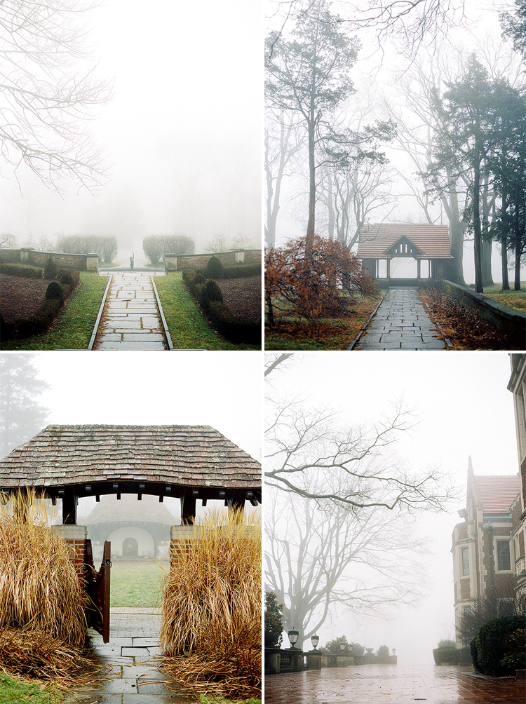 Fog at Waveny House in New Canaan, CT
