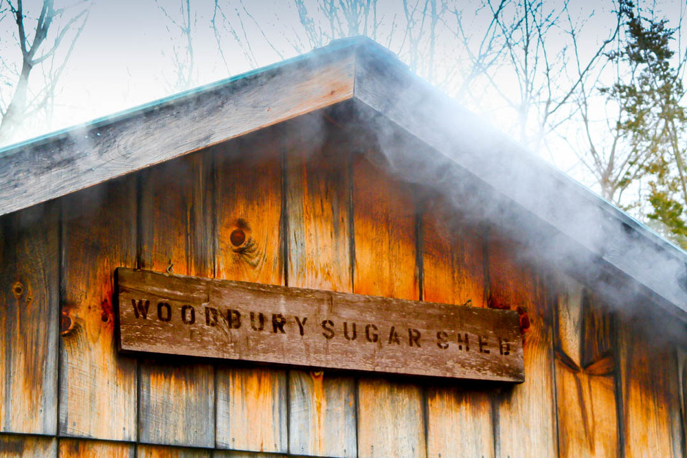 Our Sugar House, a post and beam barn which contains all our Maple Production equipment.