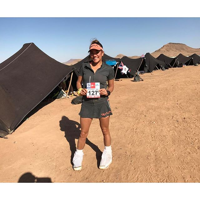 British Endurance Athlete & treadmill world record holder, Susie Chan @susie_chan_, smashes the marathon @marathondessables Treble a gruelling 156mile desert ultra marathon.  The #MDS Trebble  One - to finish & experience One - to compete One - that taught me a lesson Each one etched in my memory. Each one very different.  Many friends & memories made on the way
