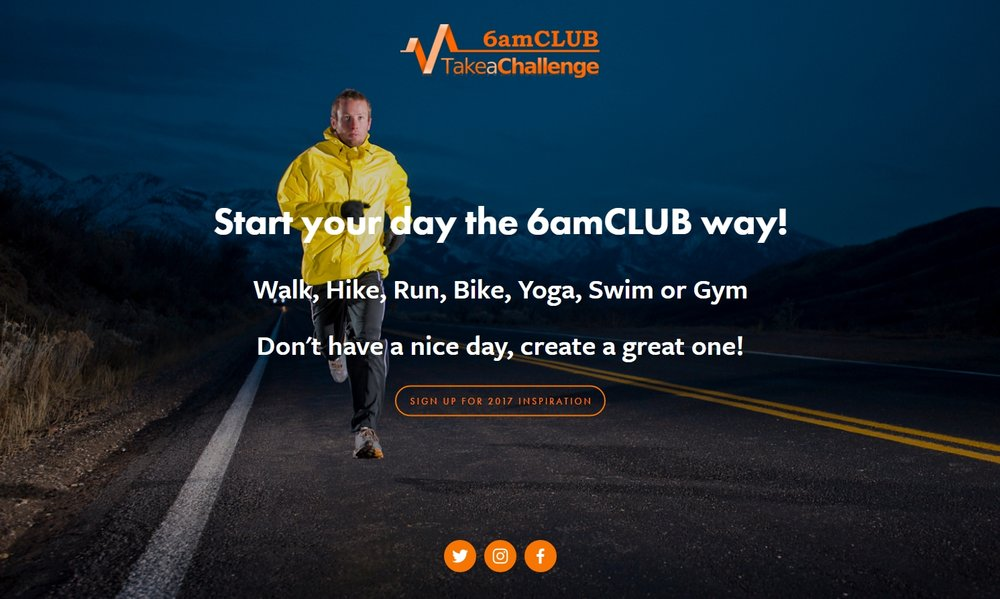 6amCLUB website