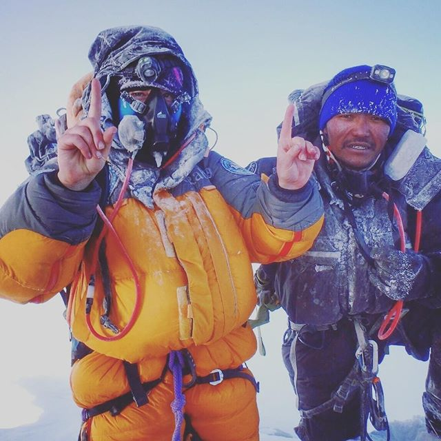 Mollie has done it, the youngest Britain to summit Mount Everest from both sides, incredible young women.  Everest update - We have only gone and done it!  What can I say!? It has been the hardest 7 days of my life! Unrelenting pain and suffering, but if you can keep suffering and keep putting one foot in front of the other, you get to the top and we bloody did!  As it began to get light, Jon turned a corner and threw his hands in the air, he could see the summit. Relief, complete relief. A few painful meters later I was standing on the summit of Mount Everest for the second time, with the most amazing team I could have wished for.  My favourite picture of myself and Lhakpa Wongchu Sherpa, we summited together in 2012 and again yesterday. This was his 11 Everest summit! Not bad for a 31 year old!  Along with Jon and Lila, they have been totally amazing and I couldn't have done this without them.