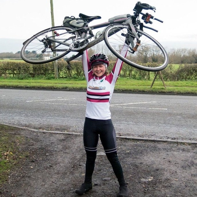 Kajsa Tylen cycled over 50,000 km's to break a world record - by Christopher Brisley
