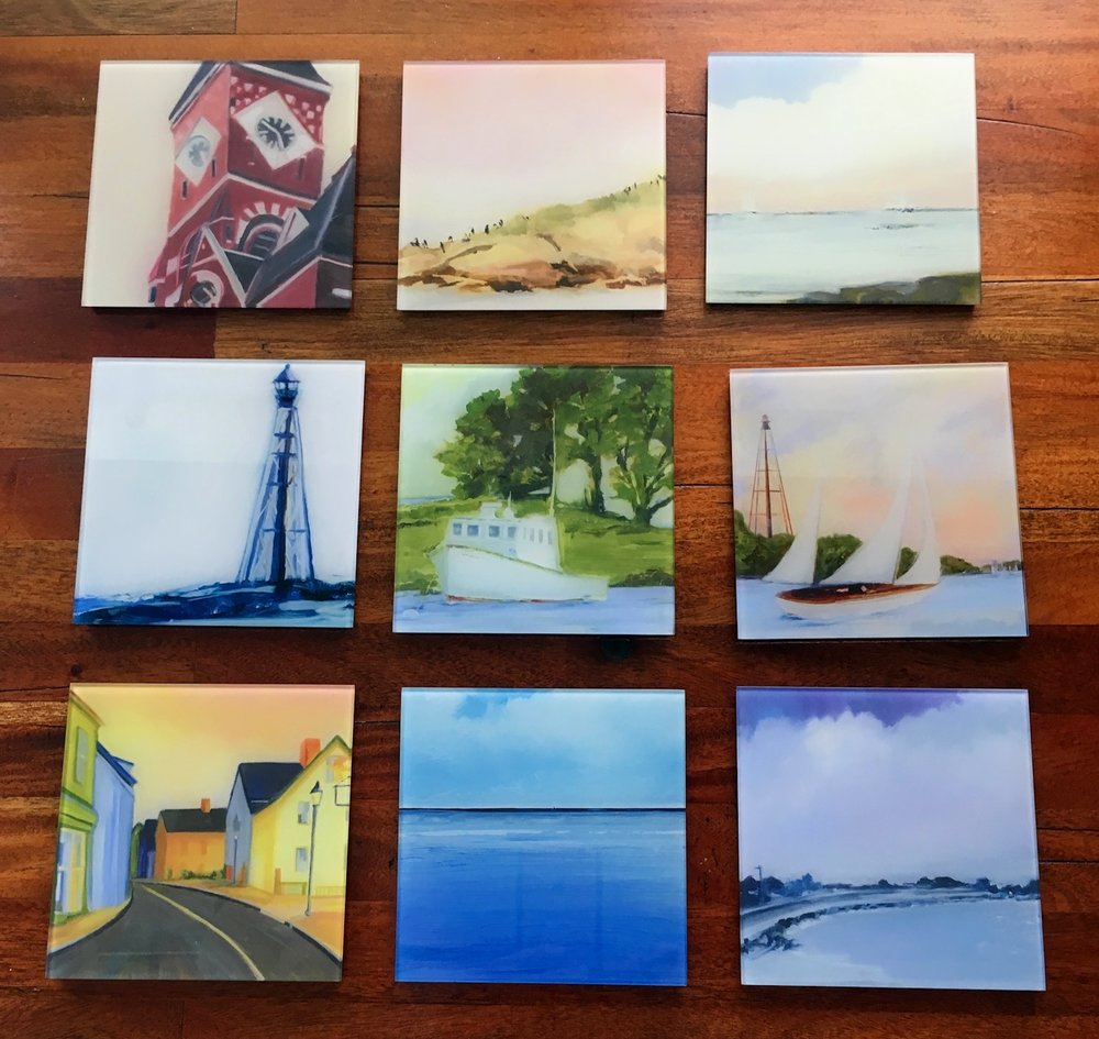 "The ""Marblehead Series"" images are all available as glass prints."
