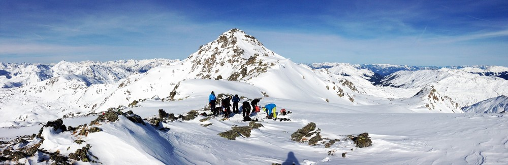 Change over below Rastkogel after skinning up from Mayrhofen