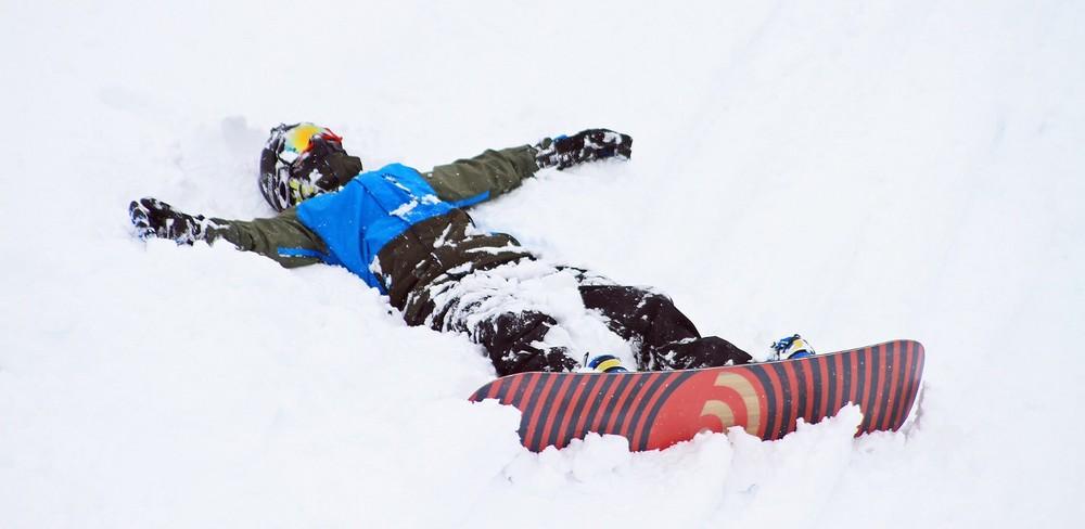 Stephen getting a powder cuddle—Mayrhofen