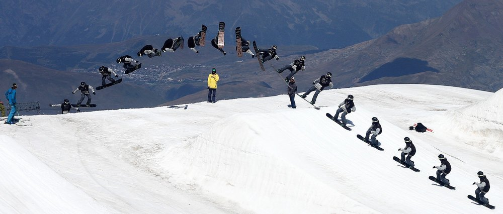 James Waterman (Les Deux Alpes, France) Backside Rodeo Goofy arm position
