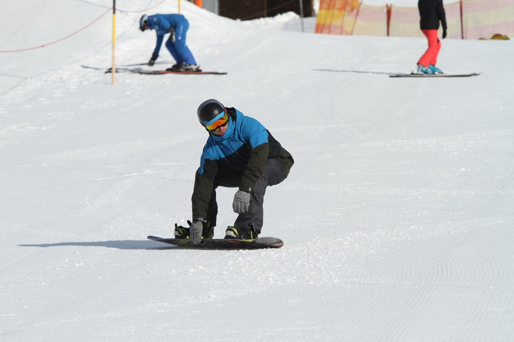 Work towards being low on the heelside carve