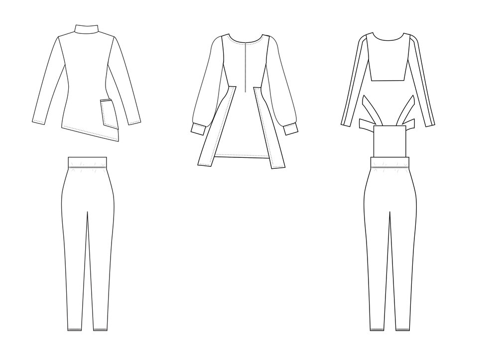 Cads Back: Outfit 1, 2 and 3