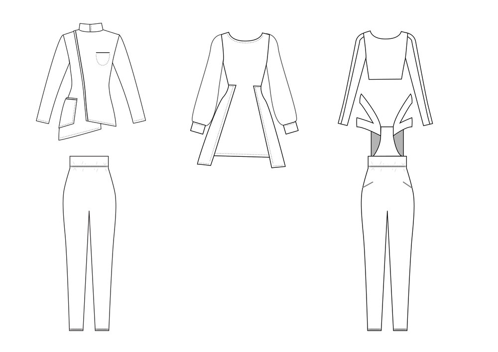 Cads Front: Outfit 1, 2 and 3