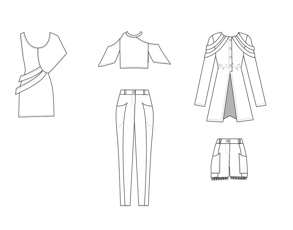 Cads Front: Outfit 4, 5 and 6