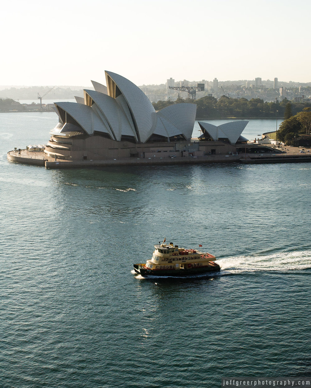 Ferry passing Sydney Opera House