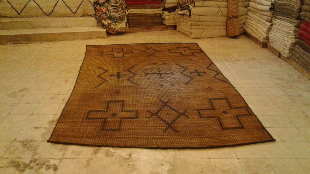 Tuareg reed mat-Moroccan berber carpets.jpg