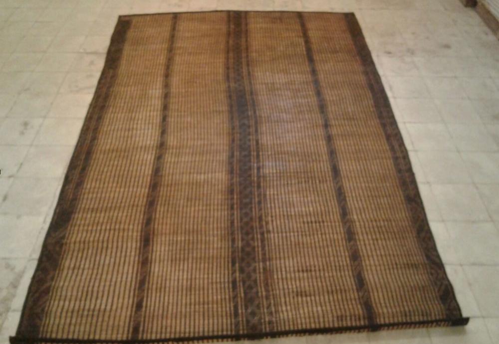 Touareg floor mat-Moroccan berber carpets - Stiped Tuareg Mat.png