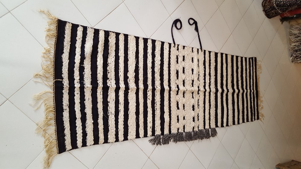beni Ourain Handira - Moroccan berber carpets - Rare Moroccan Wedding Blanket.jpg
