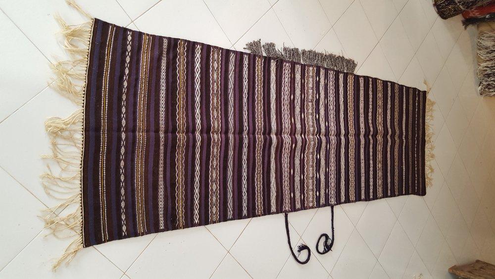 beni Ouarain Handira - Moroccan berber carpets - Rare Moroccan Wedding Blanket-2.jpg