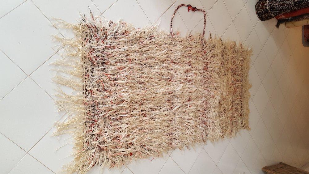 beni Ouarain Handira - Moroccan berber carpets - Rare Moroccan Wedding Blanket-Back.jpg