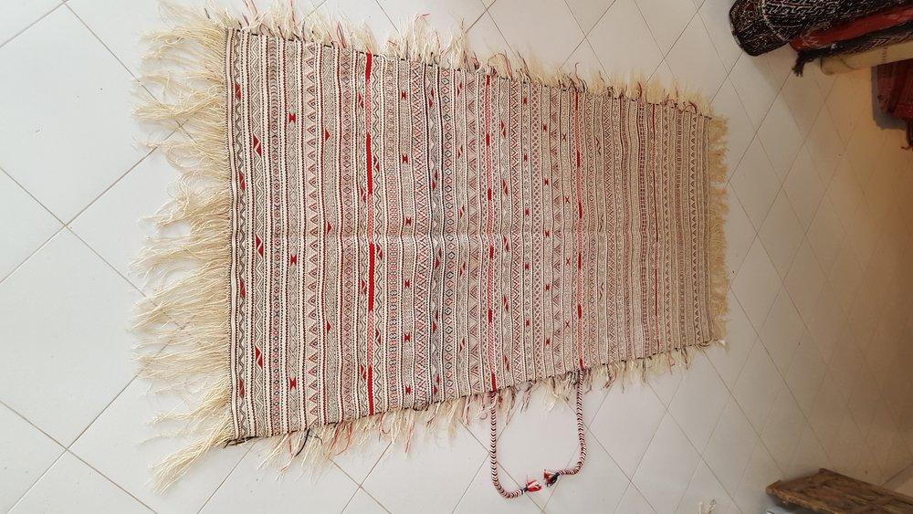 beni Ouarain Handira - Moroccan berber carpets - Rare Moroccan Wedding Blanket.jpg
