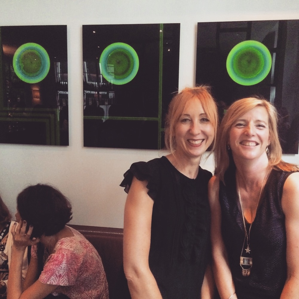 Jo Bradford (right) with Angie Davey, Eyestorm's Creative Director