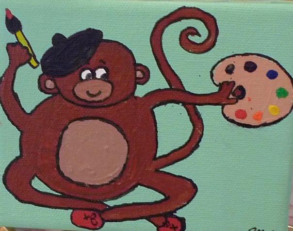 Artistic monkey