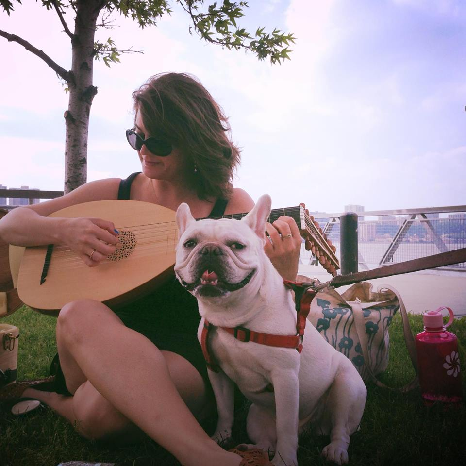 Sometimes I play the lute. By the river. With my dog. Schubert.