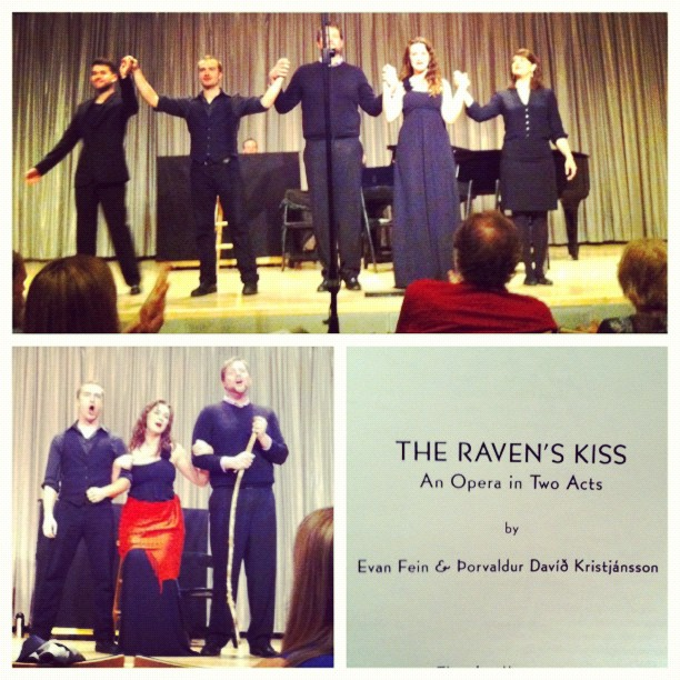 And Evan Fein's The Raven's Kiss at The Scandinavia House in New York City.