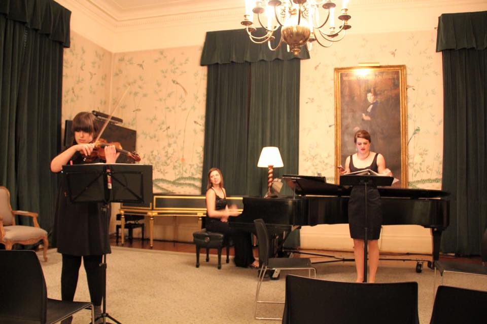 The Moirae Ensemble is a Non Profit Chamber Ensemble I run. We perform a lot of works by women composers about women's issues. Here we are at Barnard.