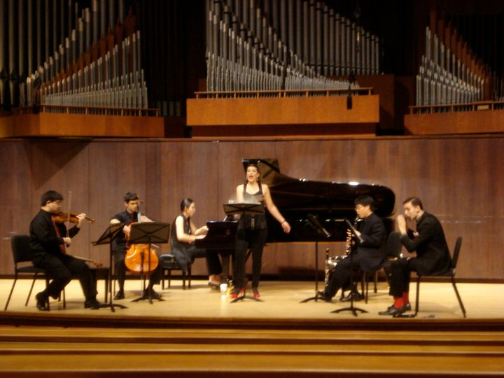 Pierrot Lunaire is one of my favorite pieces to perform. Here I am singing it with Chamberfest at The Juilliard School.
