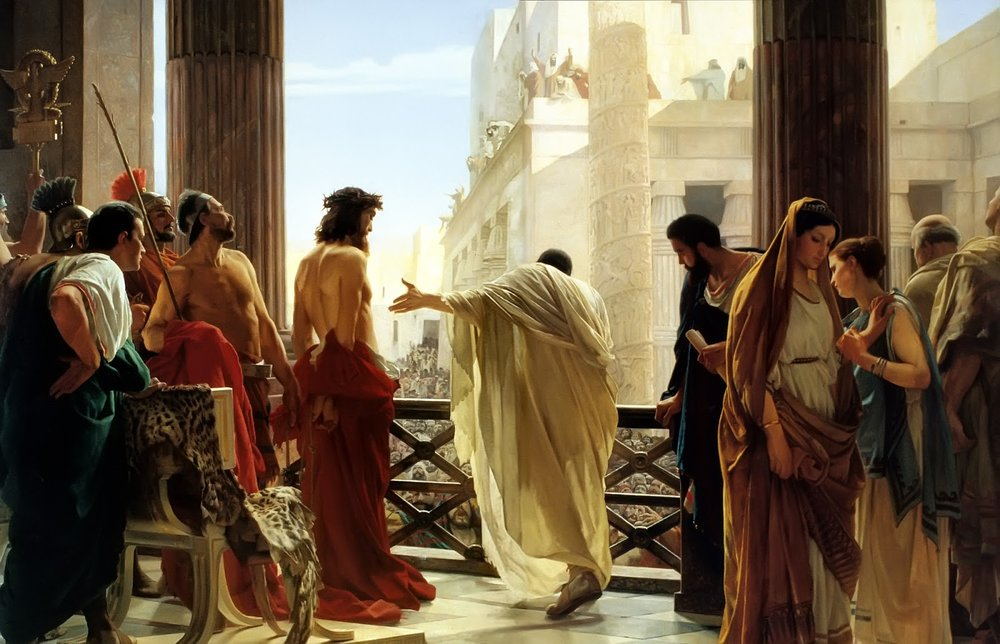 """Ecce homo"" (Behold the Man) by Antonio Ciseri (1880)"